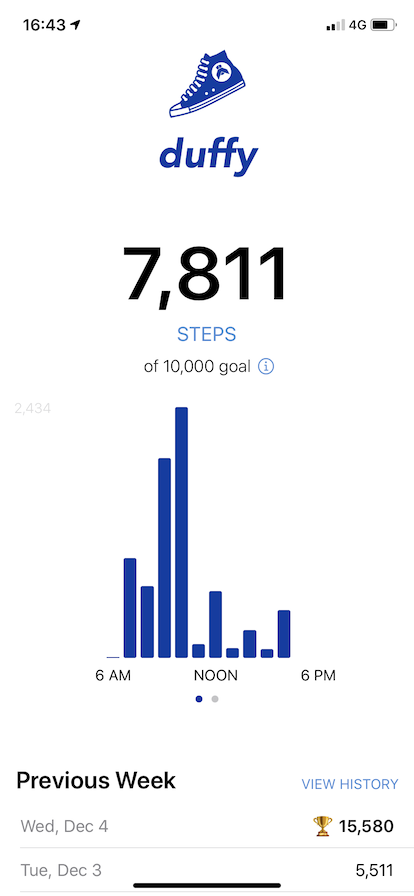 Steps throughout the day