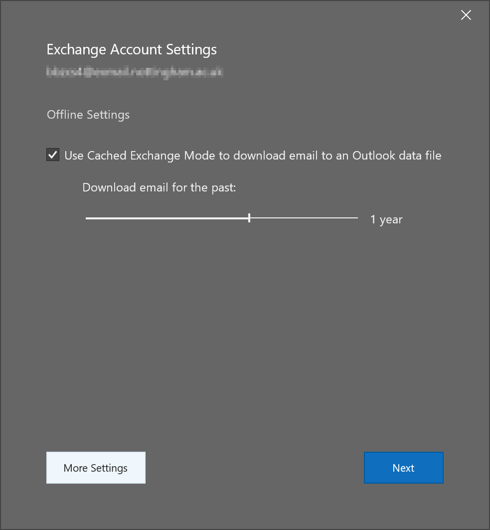 Setting up Windows Outlook to only download specific messages